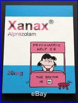 Ben Frost Xanax The Doctor Is In Stencil On Board Edition Of 20 2019