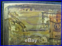 Bernhard Rohne 1971 Original Signed Artwork Etched and Oxidized Metal
