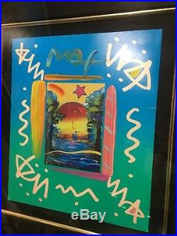 Better World Collage (Large) By Peter Max-Signed in Pigment