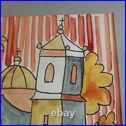 Brother Cletus Behlmann SAN JOSE MISSION SAN ANTONIO TEXAS Watercolor Framed