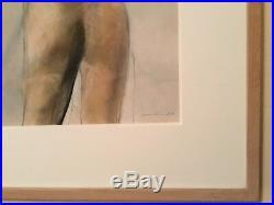 Bruce Samuelson 1987 Original Signed Mixed Media Framed Drawing 21 X 17