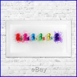 Bubble Jelly Babies Framed 3D Liquid Art