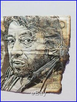 C215 Christian Guemy 500 Francs Banknote Serge Gainsbourg (Invader/Banksy int.)