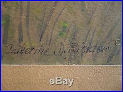 CATHERINE RICHTER, Wife of Henry RICHTER, LISTED LAGUNA PLEIN AIR CALIFORNIA CA