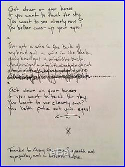CHEMLAB Jared Louche's unique handmade lyric book BURNOUT signed TERRA INFIRMA