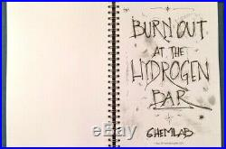 CHEMLAB Jared Louche unique handmade lyric book BURN OUT signed OBLIVION KING