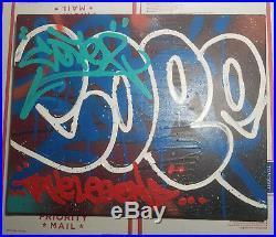 COPE2 NYC graffiti mixed media painting on canvas 16 x 20