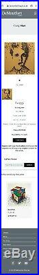 CRAIG ALAN'TWIGGY II', Glazed Original Mixed Media on Board