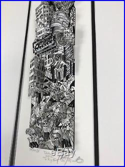 Charles Fazzino 3D Art Terror Over Toyko Signed & Numbered Deluxe Framed