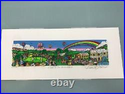 Charles Fazzino 3D Artwork A Hole in One Behind Bush 13 Signed & Numbered
