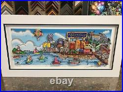 Charles Fazzino 3D Artwork An Atantic City Summer Signed & Numbered Deluxe