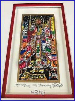 Charles Fazzino 3D Artwork Baby It's Broadway Signed & Numbered Deluxe Ed