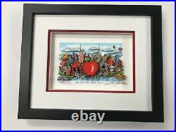 Charles Fazzino 3D Artwork Blue Skies Over New York Signed & Numbered Red