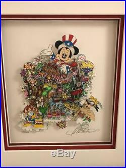 Charles Fazzino 3D Artwork Disney It's a World of Hope and A World of Joy