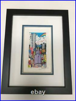 Charles Fazzino 3D Artwork Flying over New York Signed & Numbered Rare 1997