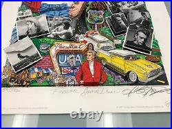 Charles Fazzino 3D Artwork Forever James Dean Signed & Numbered Deluxe Ed