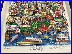 Charles Fazzino 3D Artwork Hello Seattle Signed & Numbered Framed