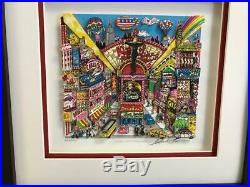 Charles Fazzino 3D Artwork Kisses From Broadway Signed & Numbered Framed