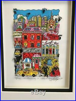 Charles Fazzino 3D Artwork Meowing in Mancattan Signed & Numbered New York