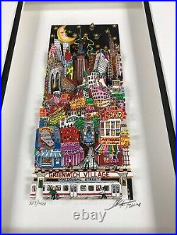 Charles Fazzino 3D Artwork Next Stop Greenwich Village Signed & Numbered