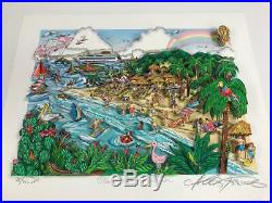 Charles Fazzino 3D Artwork Our Caribbean Vacation Signed & Numbered Deluxe Ed