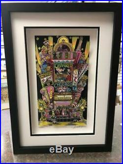 Charles Fazzino 3D Artwork Our Evening on Broadway Signed & Numbered Framed