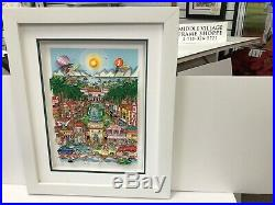 Charles Fazzino 3D Artwork Perfectly Palm Beach Signed & Numbered Deluxe Ed
