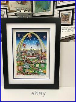 Charles Fazzino 3D Artwork St. Louis Meets The Mississippi Signed & Numbered
