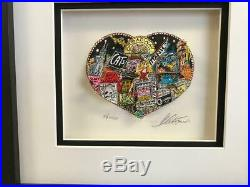 Charles Fazzino 3D Artwork The Heart of Broadway Signed & Numbered Framed