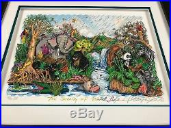 Charles Fazzino 3D Artwork The Serenity Of The Wildlife Signed & Numbered DX