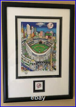 Charles Fazzino 3D Lets Go Yankees (Framed With Extra Yankee 3D Logo)