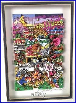 Charles Fazzino 3D Pop Art Anaheim Disneyland Walt Disney LE 1/25 AP