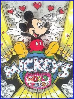 Charles Fazzino 3D Pop Art Mickey's World Tour Walt Disney LE 22/600