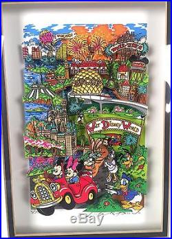 Charles Fazzino 3D Pop Art Orlando Walt Disney World Mickey LE 3/25 AP