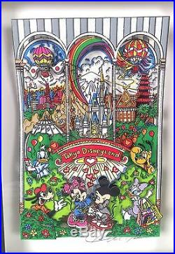 Charles Fazzino 3D Pop Art Tokyo Disneyland Walt Disney LE 1/25 AP
