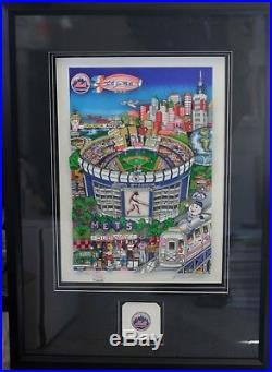 Charles Fazzino 3D Serigraph Deluxe Ed 35/150 New York Mets Shea Stadium