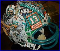 Charles Fazzino 3-D Art 1 Of A Kind Dolphins Mini Helmet Signed By Dan Marino