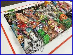 Charles Fazzino 3 D Artwork Ghost, Good Time, and Gridlock Deluxe Ed. Framed