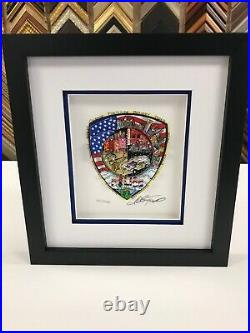 Charles Fazzino A Salute To America's Finest 3-D Artwork DX Edition Police