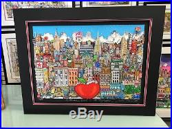 Charles Fazzino A Winter Visit In The Big Apple 3-D Artwork Signed & Number
