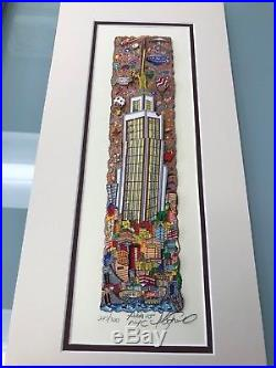 Charles Fazzino Above New York 3-D Art Signed & Number Edition Framed