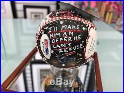 Charles Fazzino Al Pacino 3D Hand Painted Baseball 1/1 Autograph The Godfather