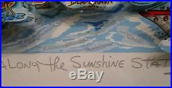 Charles Fazzino Along the Sunshine State 3D Art Signed Number 70/350 DX