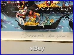 Charles Fazzino Carnevale Veneziana 3-D Artwork Signed & Number Framed