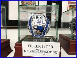 Charles Fazzino Derek Jeter 3D Hand Painted Baseball 1/1 Autograph NY Yankees