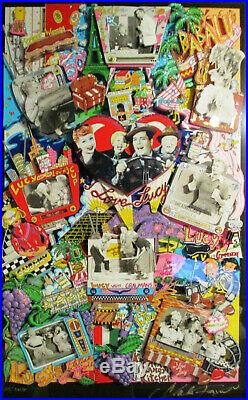 Charles Fazzino For the Love of Lucy Premium 3D Serigraph Mixed Media 2001