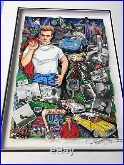 Charles Fazzino Forever James Dean 3-D Art Signed & Number Deluxe Framed