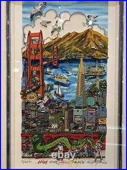 Charles Fazzino High Over San Francisco Limited Edition