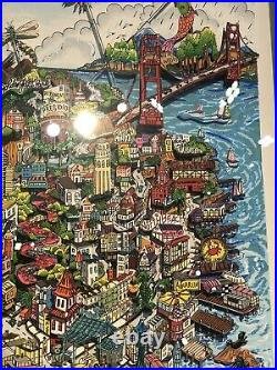 Charles Fazzino Lets Go Fly A Kite San Francisco Limited Edition
