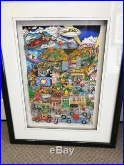 Charles Fazzino Looneywood 3-D Art Signed & Number Framed